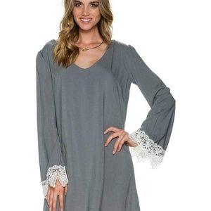 Swell Rosarito Bell Sleeve Crochet Detail Dress